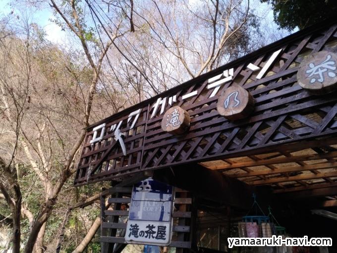 滝の茶屋の看板