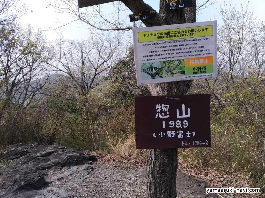 小野アルプス 惣山山頂