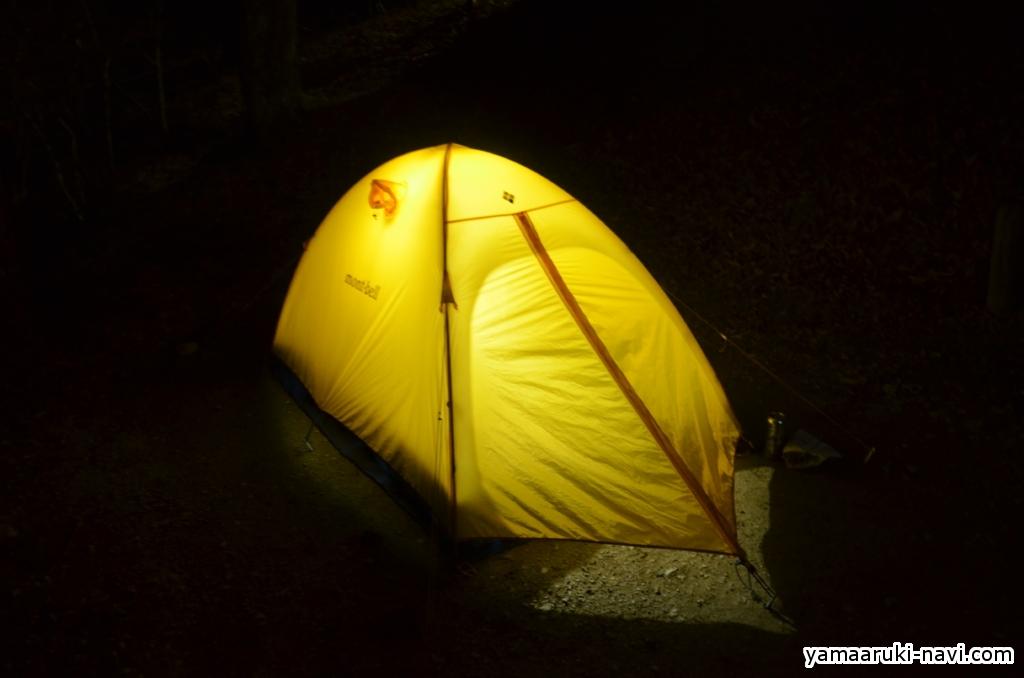 テント泊 金剛山キャンプ場