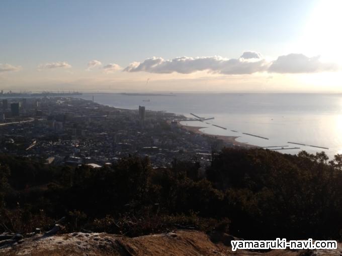 鉄拐山山頂からの眺望