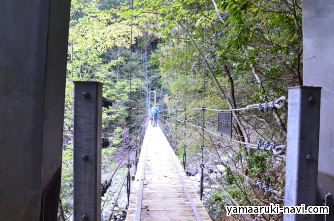 大杉谷 七ツ釜吊橋