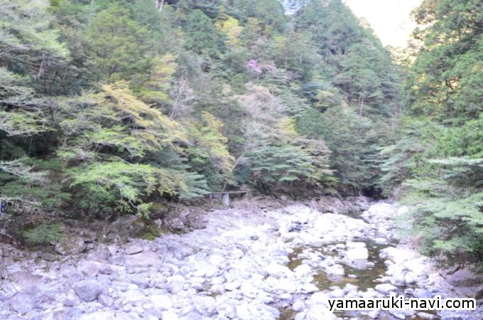 大杉谷 七ツ釜滝吊橋