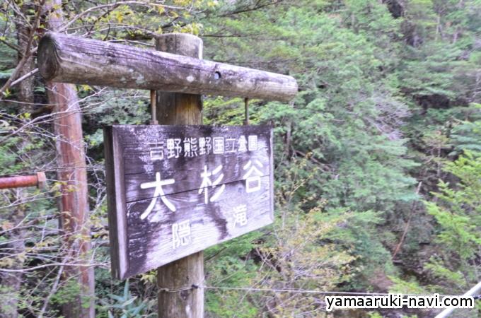 大杉谷 隠滝