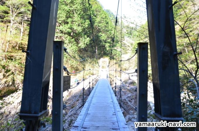 大杉谷 堂倉滝吊橋