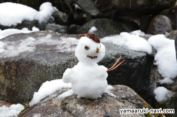 上高地GW 雪だるま