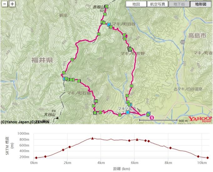 赤坂山 地図