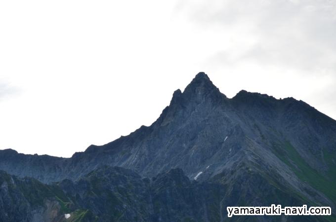 鏡平小屋から見る槍ヶ岳