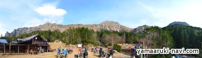 行者小屋からの景色