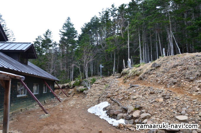 行者小屋から赤岳鉱泉へ