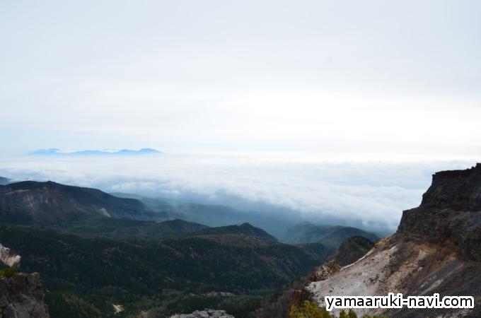 硫黄岳山頂からの景色