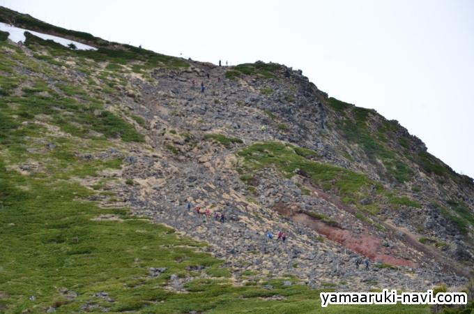 硫黄岳山荘から硫黄岳へ