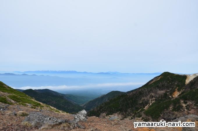 硫黄岳山荘からの景色