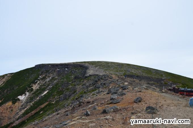 硫黄岳山荘から台座ノ頭へ