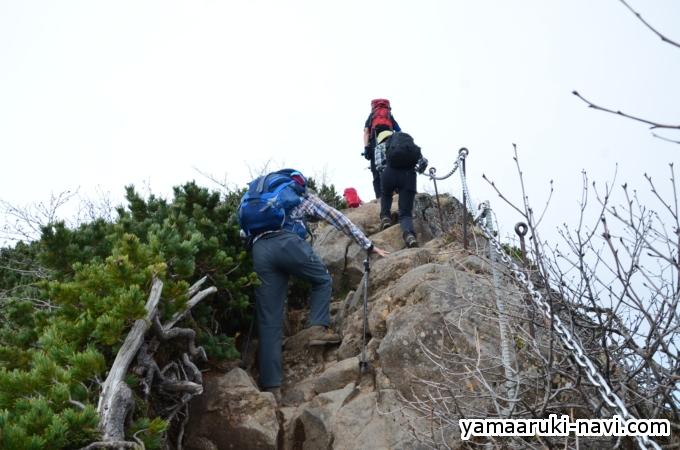 台座ノ頭から横岳へ