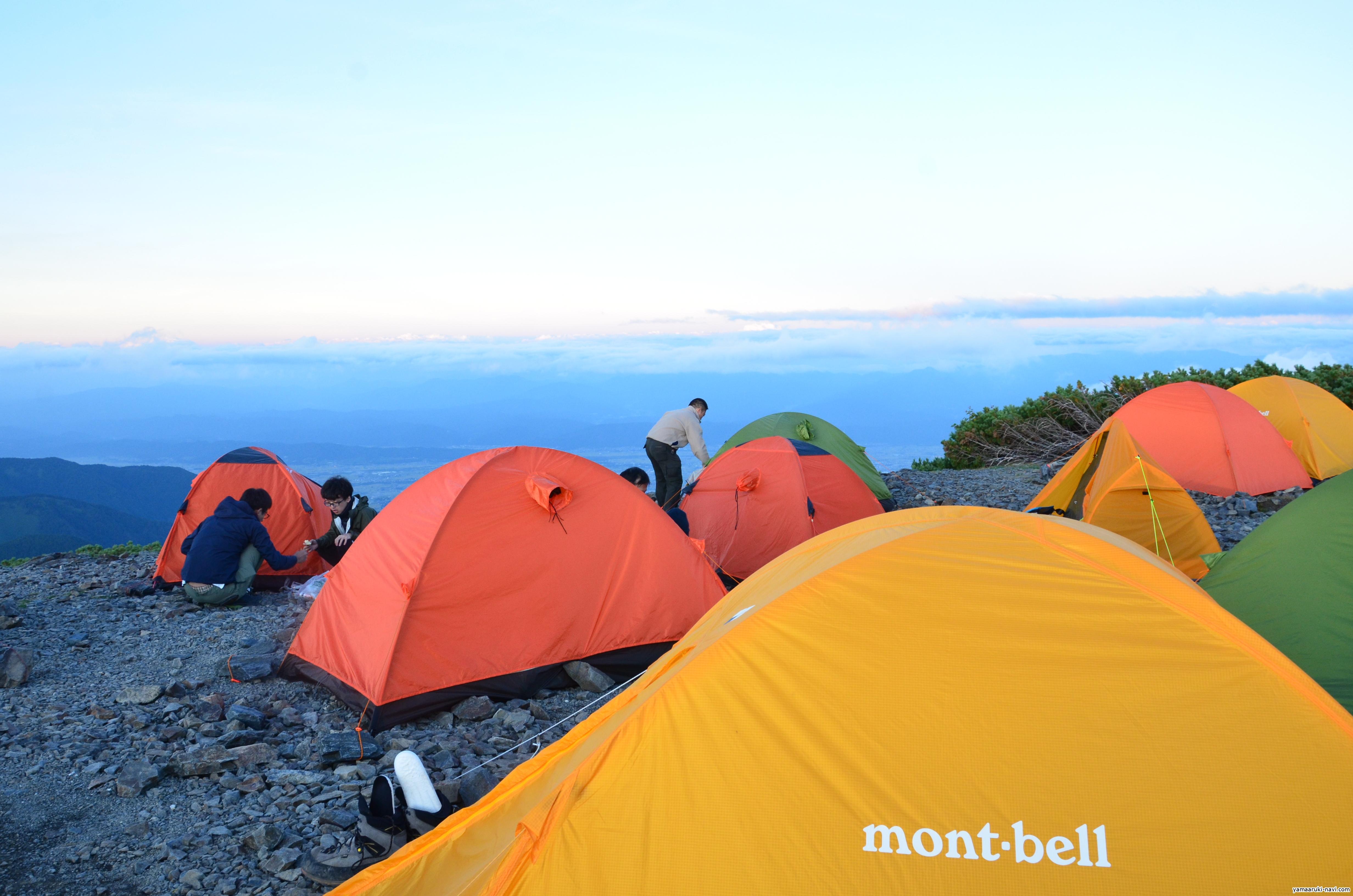 蝶ヶ岳キャンプサイト