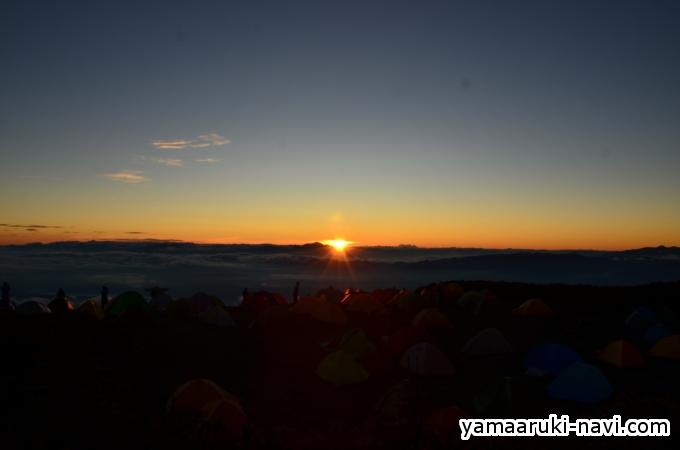 蝶ヶ岳 日の出7