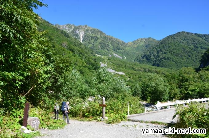 小池新道登山口に到着です。