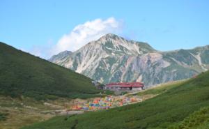 鷲羽岳と双六小屋