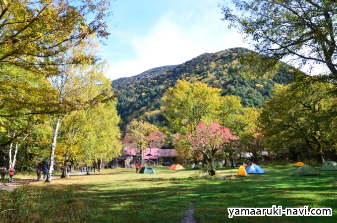 徳沢園 キャンプ場
