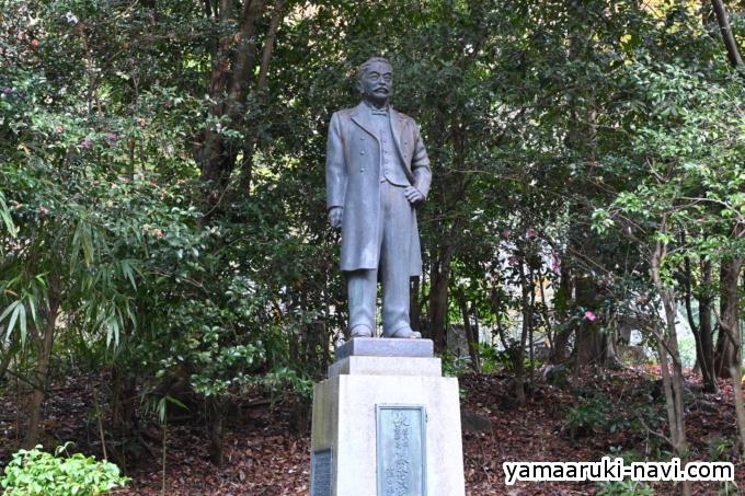 箕面公園の生みの親と称される森秀次の銅像