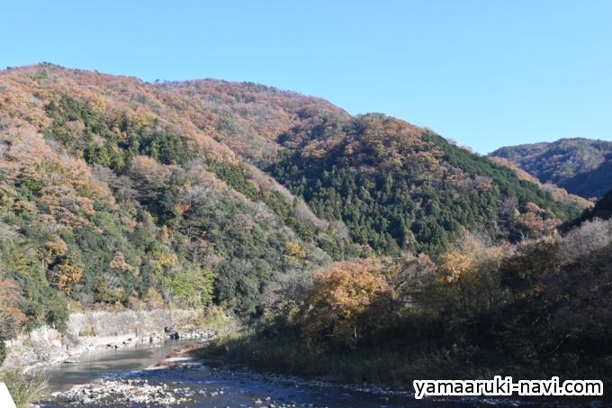 温泉橋から見た大峰山