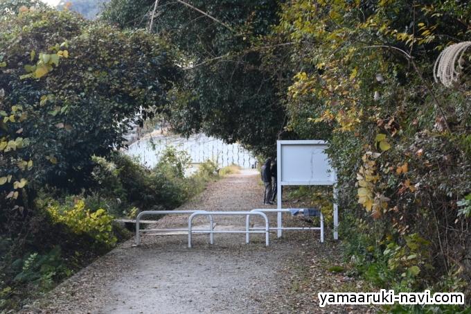 武庫川渓谷 JR福知山線廃線敷入口に到着です。