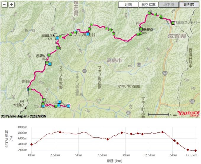高島トレイル 地図